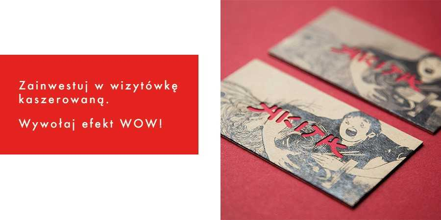 wizytówka kaszerowana na papierze multiloft