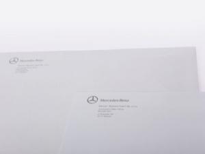 koperty z logo Mercedes