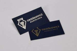 wizytówki firmowe srebrzone