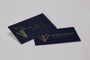 wizytówki złocone dla firm